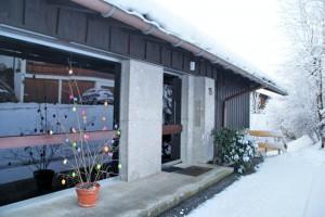 Eingangsbereich zum Ferienhaus Jauchen 15